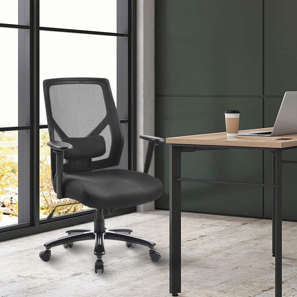 Ergonomic Office Mesh Chair Adjustable Height Swivel Home Computer Desk 360°