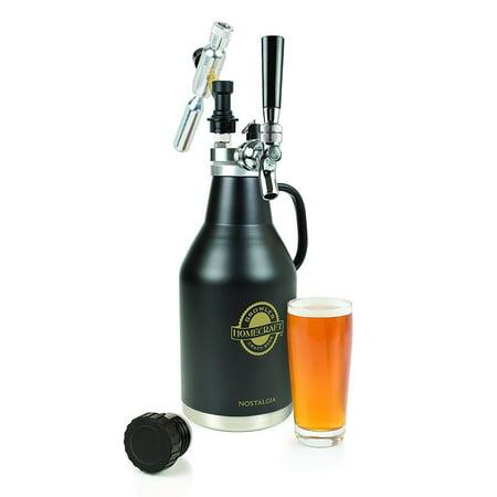 Nostalgia CBG64 Homecraft Pressurized Beer (Nostalgia Cbd5ss Homecraft On Tap Beer Growler System)