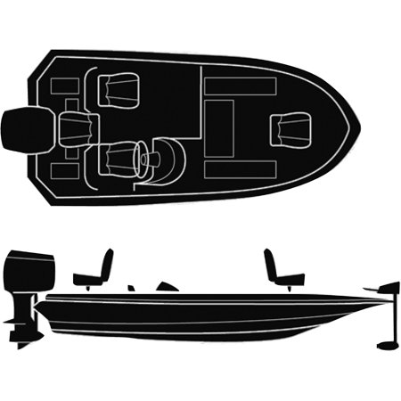 Seachoice Semi-Custom Boat Cover For Wide Bass Boats