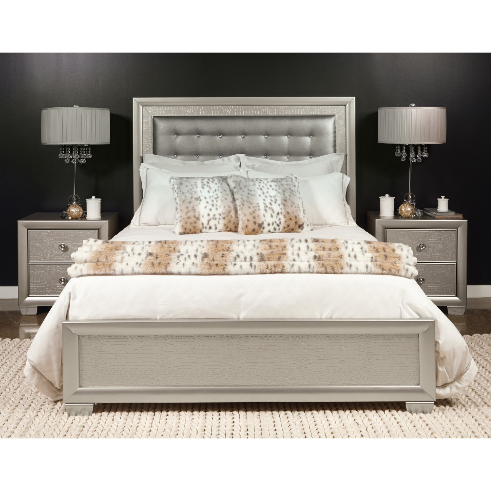 Samuel Lawrence Celestial Upholstered Low Profile Bed