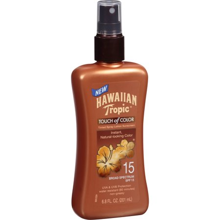 Hawaiian Tropic ® Touch of Color SPF 15 Tanning Tinted Spray Lotion Sunscreen 6.8 fl. oz. Spray Bottle