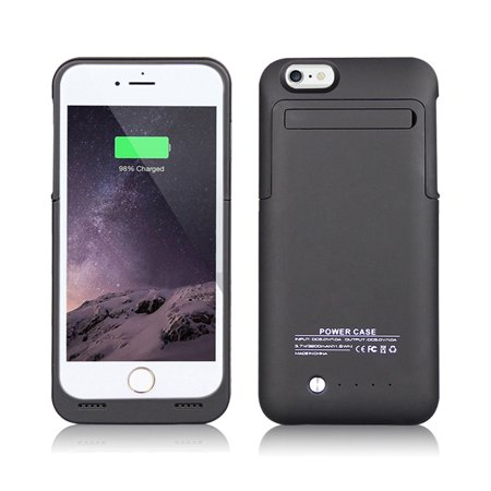 timeless design e0f13 25a18 IPhone 6 / 6S External Battery Backup Case Charger Power Bank 3500mAh Stand  Black (NOT FOR IPHONE 6 PLUS /6S PLUS)