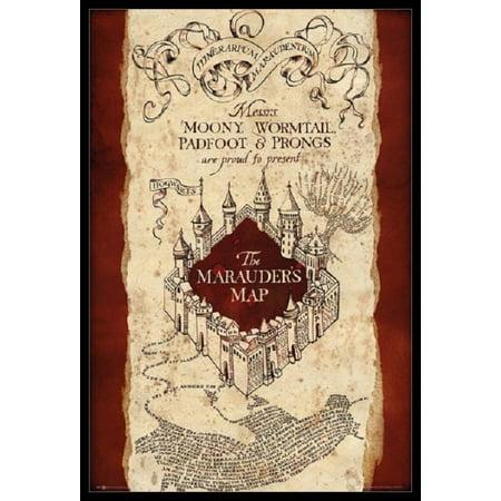Harry Potter Marauders Map Poster Poster Print](Harry Potter Mlp)