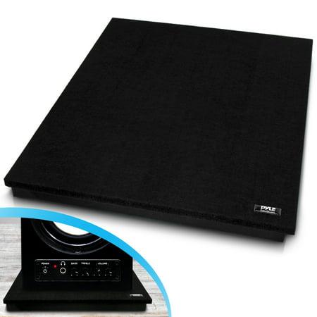 Pyle PSI12 - Acoustic Sound Isolation Dampening Recoil Stabilizer Speaker Riser Platform Base (for Studio Monitor, Subwoofer, Loudspeakers, Shelf Speakers, etc.) 22.5'' x