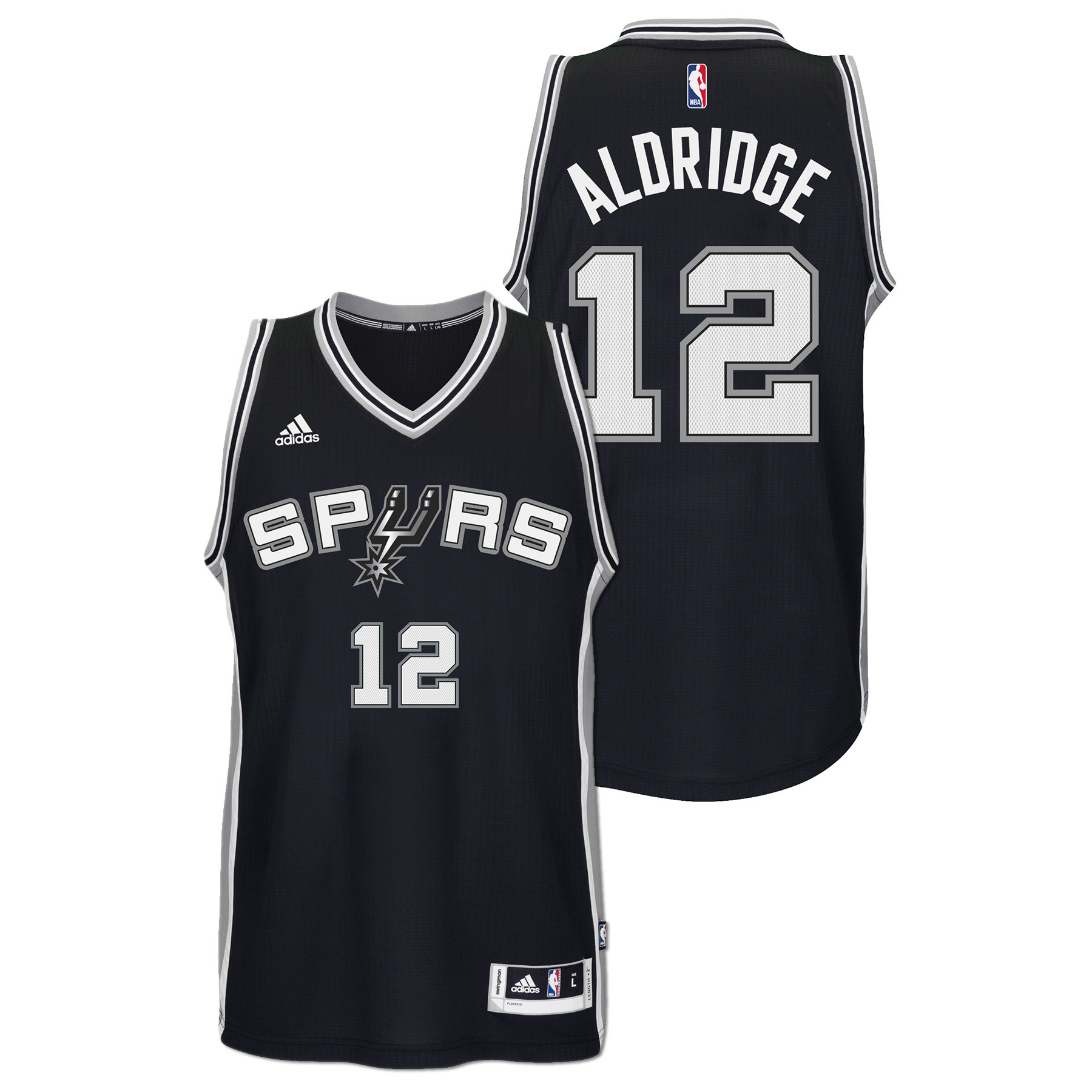 LaMarcus Aldridge San Antonio Spurs Adidas Road Swingman Jersey (Black)