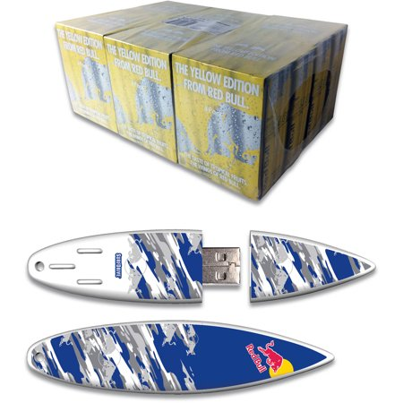 Red Bull 24 Pack 8 4 Ounce Yellow Edition Energy Drink And 8Gb Blue Camo Usb Surfdrive