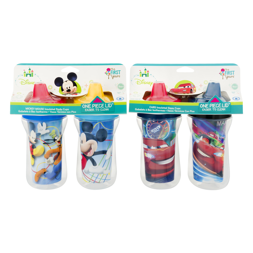 The First Years Disney Hard Spout Sippy Cup 4 pack by The First Years
