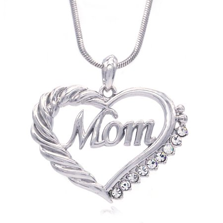 Soulbreezecollection Mother's Day Mom Heart Necklace Love Pendant Charm Jewelry - Mother's Day Charms