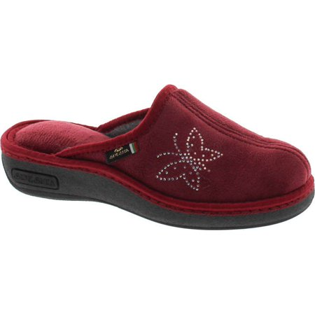 Sc Home Collection Womens 14817 Wedge Embroidered Cozy House Slippers Made In Europe