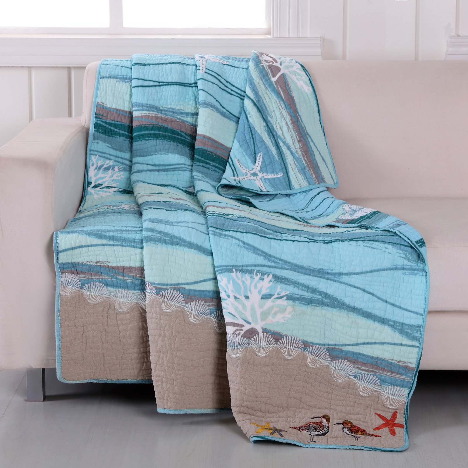 Maui Quilted Throw by Greenland Home Fashions