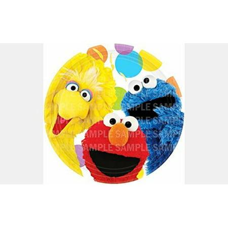 Cookie Monster Party Ideas (Sesame Street Elmo Big Bird Cookie Monster Birthday Edible Image Photo 8