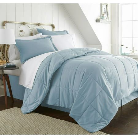 California King Toile Comforter - Becky Cameron 8 Piece Resort Style Soft Comfort Bed in a Bag Set - California King - Aqua