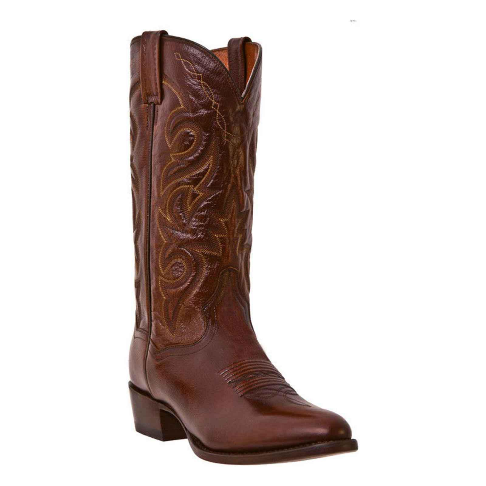Dan Post DP2111R Men's Antique Tan Milwaukee R Toe Western Boots by Dan Post Boots