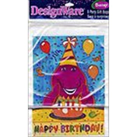 Barney Birthday Supplies (Barney Vintage 2000 Favor Bags)