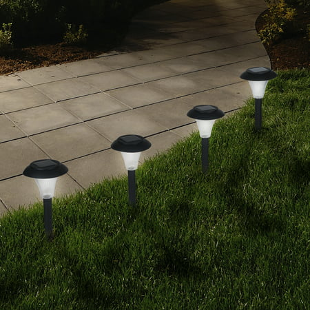 Solar Powered Lights (Set of 8)- LED Outdoor Stake Spotlight Fixture for Gardens, Pathways, and Patios by Pure Garden