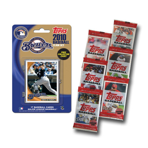 2010 Topps MLB Team Set With Packs - Milwaukee Brewers Milwaukee Brewers MCT10BBMIL