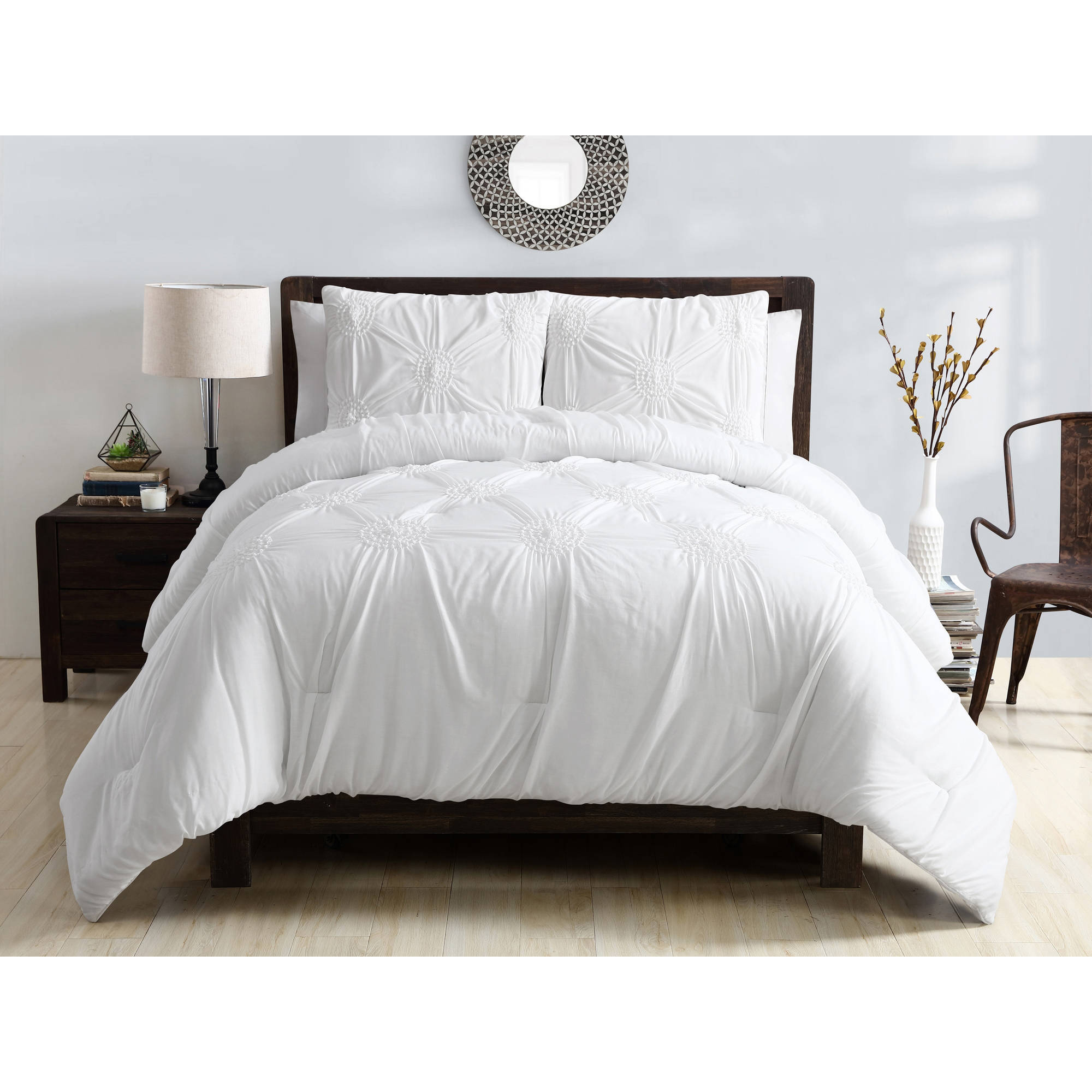 ***DISCONTINUED*** VCNY Home Floral Technique Jenelle 3 Piece Bedding Comforter Set, Shams Included, Multiple Colors and Sizes Available