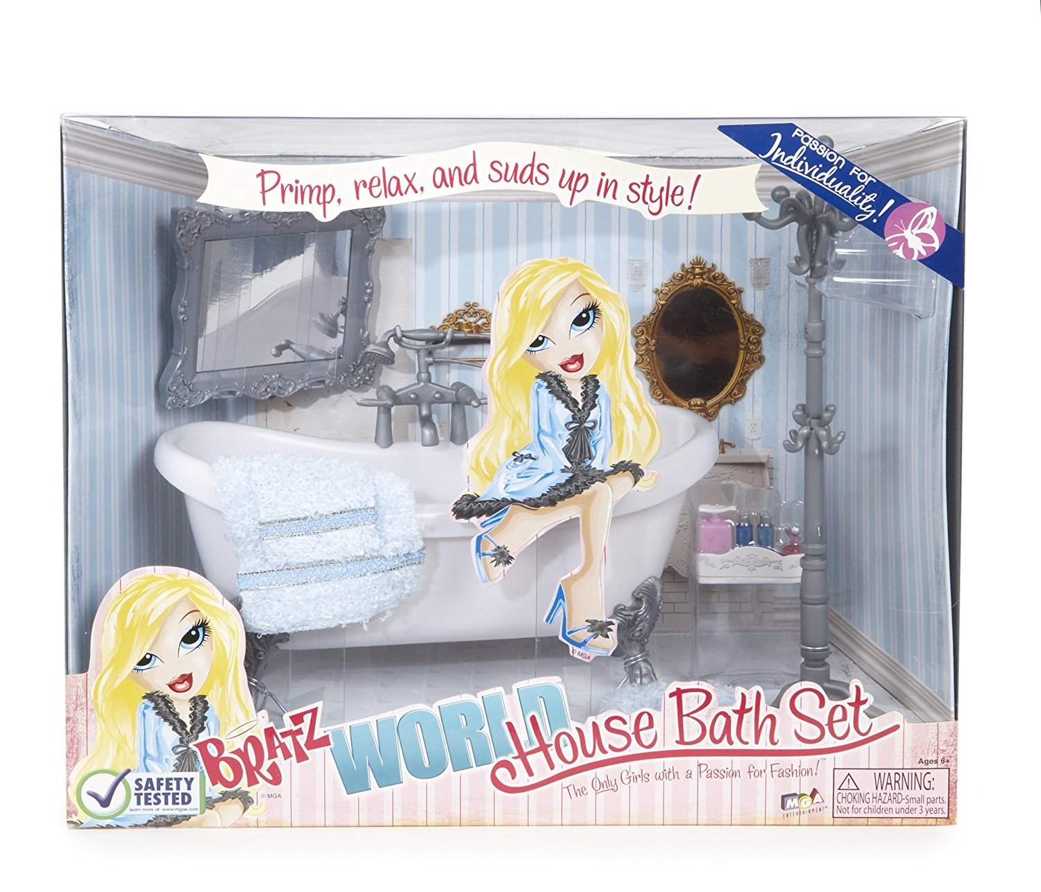 World House Accessories Bath Set, Bratz can bathe and primp By Bratz Ship from US by