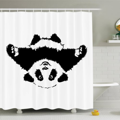 Bloomsbury Market Joellen Cute Panda Wants to Hug Shower Curtain Set