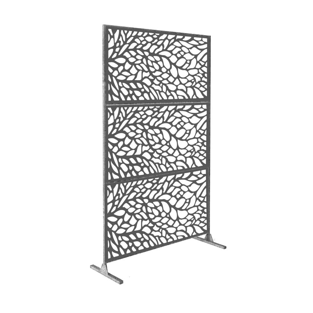 6 H X 4 W Laser Cut Metal Privacy Screen Metal Privacy Screen Fence Metal Wall Art Outdoor Indoor Privacy Metal Panel 4 H X 2 W Silver 3pcs Walmart Com Walmart Com