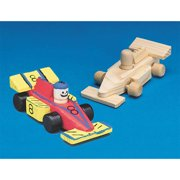 Mini Unfinished Wood Race Cars, Pack of 12