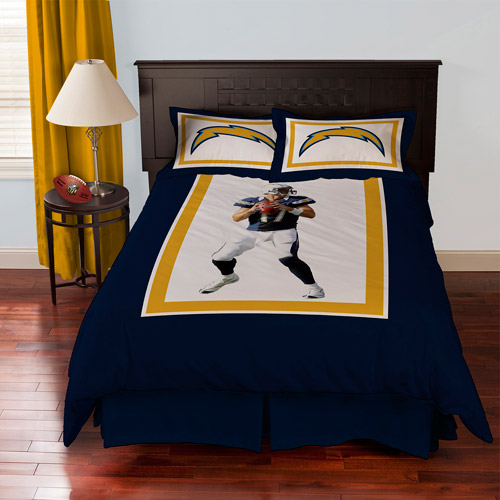 Biggshots San Diego Chargers Philip Rivers Bedding Comforter Set