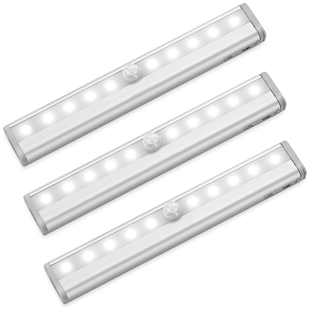 3 Packs MagicBuds 10 LED Motion Sensor Lights, Portable Super Bright Battery  Operated Wireless Motion