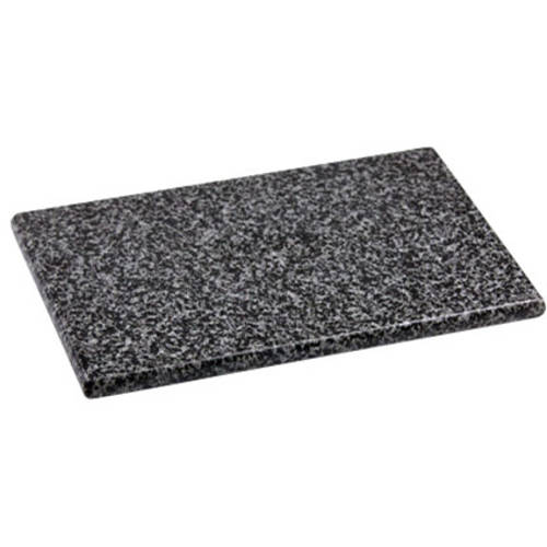 "Home Basics 8"" x 12"" Granite Cutting Board, Black by Generic"