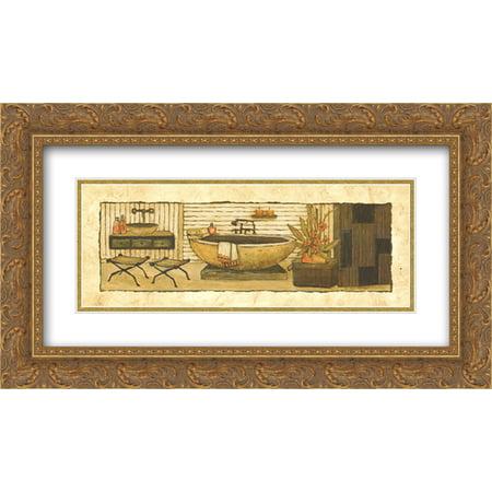 Gold Spa (Z Spa II 2x Matted 24x12 Gold Ornate Framed Art Print by Charlene Winter)