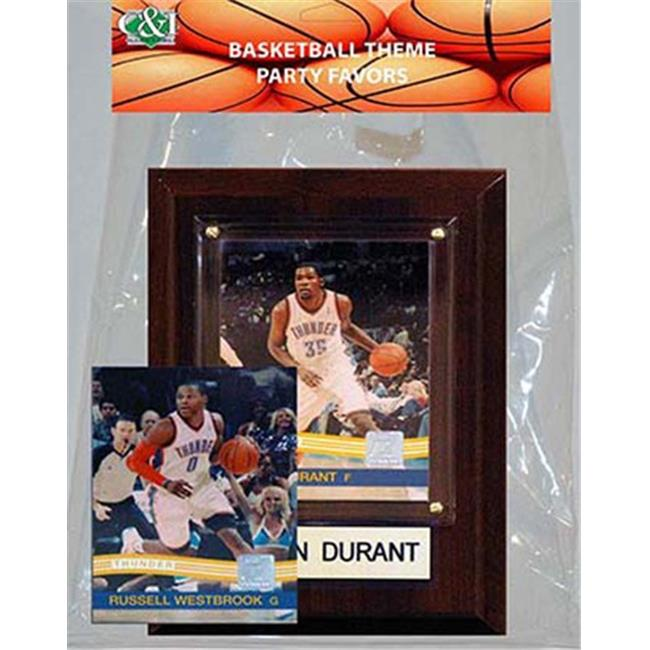Candlcollectables 46LBTHUNDER NBA Oklahoma City Thunder Party Favor With 4 x 6 Plaque