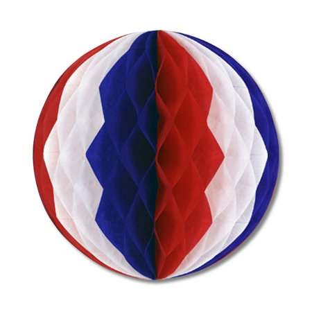 Pkgd Tissue Ball Red, White, Blue- Pack of 12