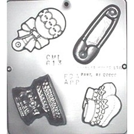 613 Baby Assortment Chocolate Candy Mold (Baby Candy Molds)