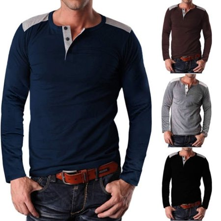 Winterwear Slim Fit Long Sleeve Muscle Tee Shirts Casual T-shirt Tops Blouse for Men - Muscle Shirts Mens