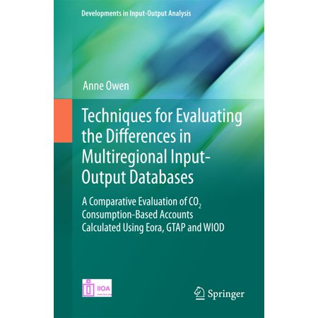 Techniques for Evaluating the Differences in Multiregional Input-Output Databases -
