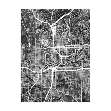 Atlanta Georgia City Map Print Wall Art By Michael Tompsett - Party City Georgia