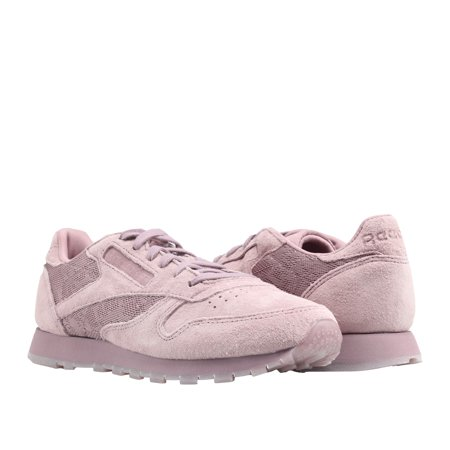 cd9a69819e0f1 Reebok - Classic Leather Lace Smoky Orchid White Women s Running Shoes  BS6521 - Walmart.com