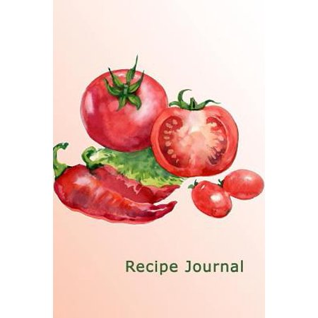 Recipe Journal : Tomatoes and Peppers in Watercolor Cooking Journal, Lined and Numbered Blank Cookbook 6 X 9, 180 Pages (Recipe Journals)