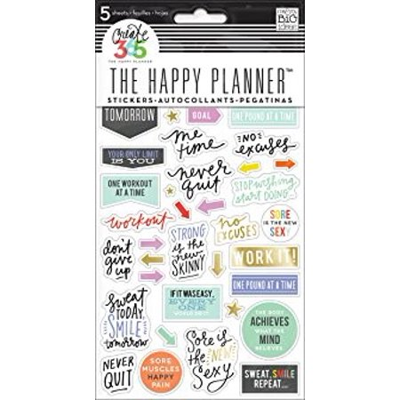 The Happy Planner® 5-Sheet Stickers, Fitness