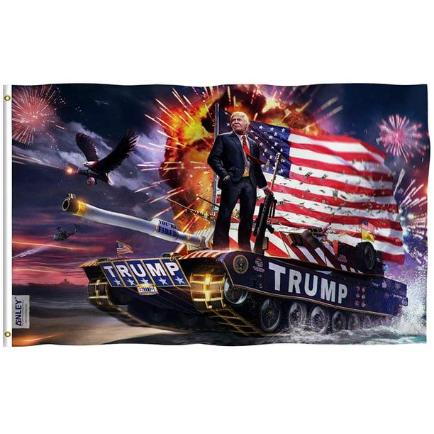 ANLEY Fly Breeze 3x5 Feet 2020 President Trump On Tank