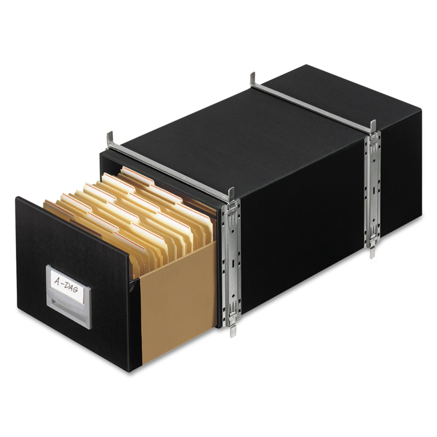 Bankers Box STAXONSTEEL Storage Box Drawer, Letter, Steel Frame, Black, 6/Carton
