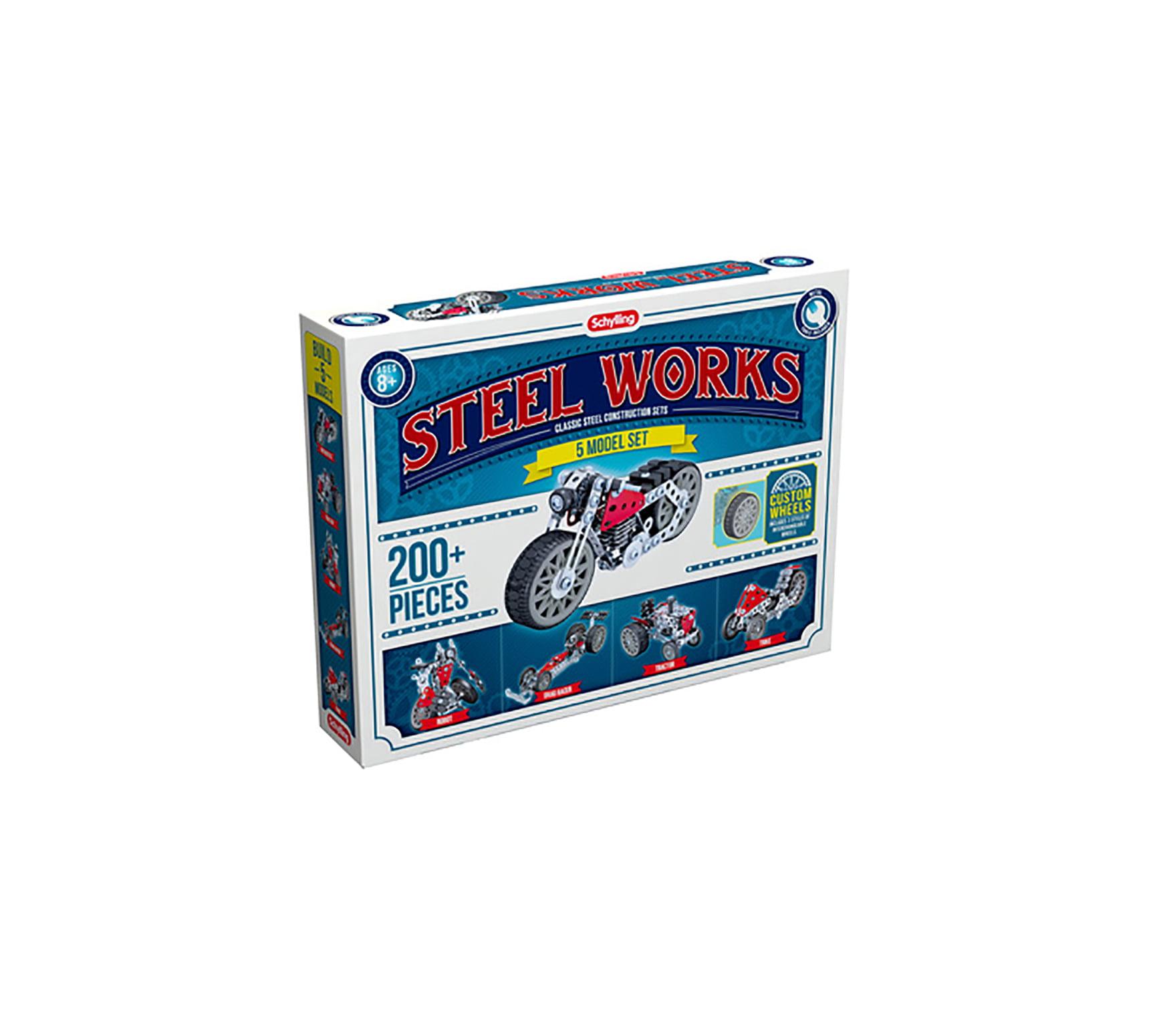 Steel Works 5 Model Set by Schylling/Steel Works
