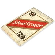 TIN SIGN Red Stripe Beer Old Lager Metal Décor Art Bar Pub Shop Store A776