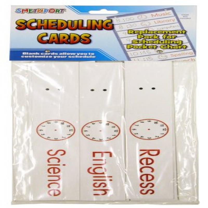 Scheduling Cards Refill Pack Educational Resources Category