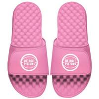 Detroit Pistons ISlide Youth Primary Logo Slide Sandals - Pink