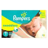 Pampers Swaddlers Newborn Diapers Size 1 100.0 ea (pack of 2)