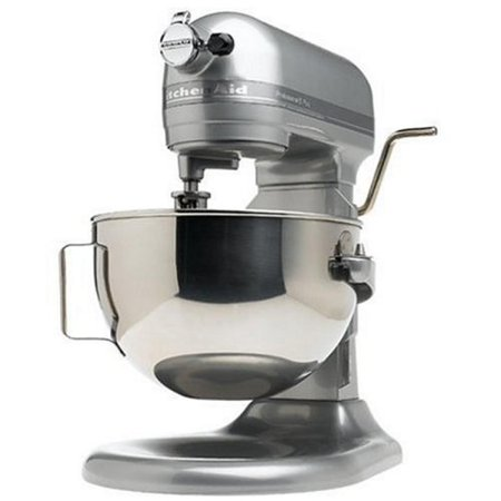 KitchenAid RKV25GOXMC Professional 5-Quart Bowl Lift Stand Mixer, Metallic Chrome (Certified Refurbished) (Kitchen Aid Bowl Lift Stand Mixer)