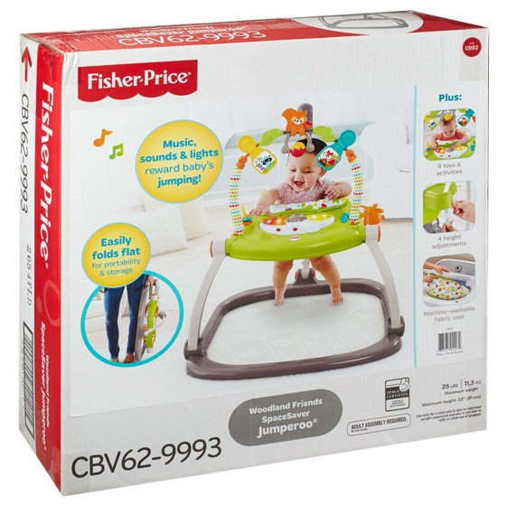 a3728d583aee Fisher-Price Woodland Friends SpaceSaver Jumperoo - Walmart.com