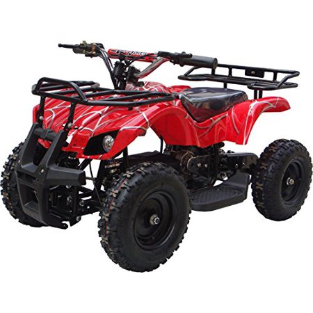 Go-Bowen Ride on Sonora ATV for Kids 350 Watt Electric Mini Quad Utility (Red (Quad Slider)