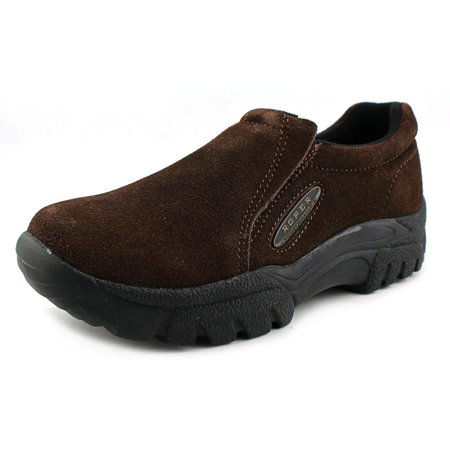 Roper Performance Sport Slip On Men 2E Round Toe Suede Brown -