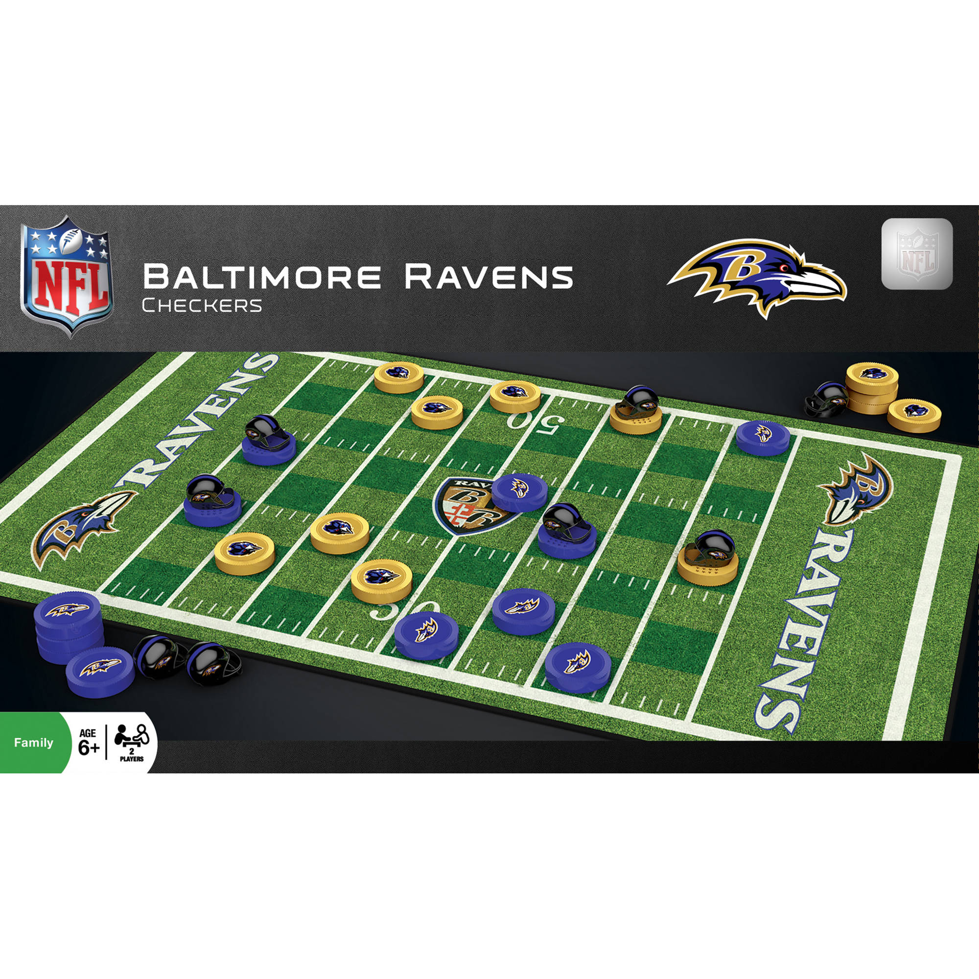 MasterPieces NFL Baltimore Ravens Checkers Game